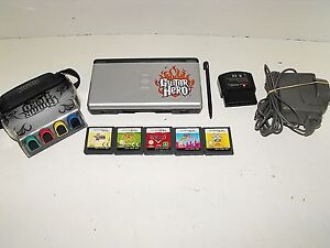 """Nintendo Ds Guitar Hero Console With 5 Games & Charger """"GWO"""""""