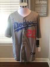 Los Angeles Dodgers #22 Clayton Kershaw Gray 2020 World Series Champions Jersey