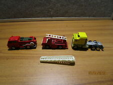 Vintage Tomica Condor Chemical Fire Truck & Other Vintage Playart Road Champ