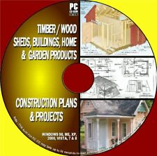 1000+ SHEDS/CABINS/TIMBER BUILDINGS CONSTRUCTION IDEAS PLANS BLUEPRINTS PCCD ROM