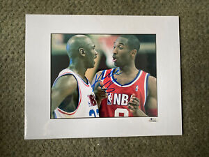 Kobe Bryant Autographed picture with  Michael Jordan hand signed #8