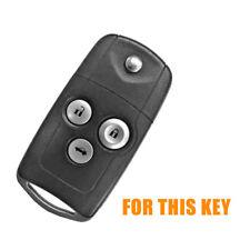 3 Button Silicone Key Case Cover For Honda Accord Civic CRV CRZ ACURA MDX Black