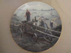 BALING HAY collector plate EMMETT KAYE Farming the Heartland STEAM ENGINE