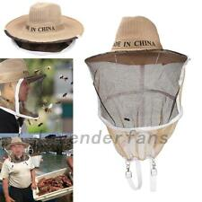 Beekeeping Hat with Veil Beekeeper Anti-Mosquito Bees Bug Face Protection Cap AU