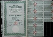 Actions 50 francs Maison Amieux-Frères - Après 1960 (6 actions)