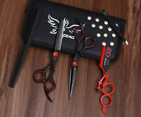 "Sharpend  Black Diamond Hairdressing Scissors Barber Cutting Thinning 6.5"" Inch"