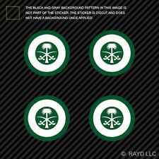 "(4x) 1.5"" Royal Saudi Air Force Roundel Sticker Die Cut RSAF Saudi Arabia SAU SA"