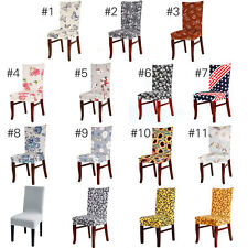 AU Washable Chair Covers Stretch Slipcovers Short Dining Room Stool Seat Cover