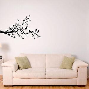 Love Birds Singing On A Tree Branch Animal Wall Sticker Decal Transfer Vinyl UK
