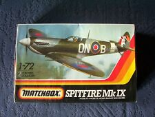 Vintage Matchbox 1/72 scale Spitfire Mk.IX model kit.[still sealed]