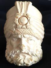 Vintage Hand-Carved MEERSCHAUM Tobacco Pipe Turkish Sultan Ottoman Arab Sheik