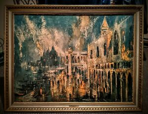 """Original Jack Layox's Above The Piazza 30"""" X 40"""" Oil Painting Print"""