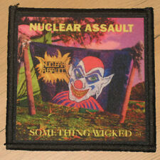 """NUCLEAR ASSAULT """"SOMETHING WICKED"""" silk screen PATCH"""