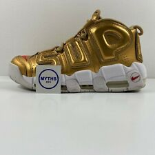 Supreme x Nike Air More Uptempo 'Suptempo' Metallic Gold - Size 8.5 - 902290 700