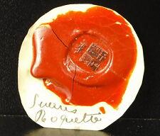 Famille Roquette Cachet de cire armoirie seal Sceau tampon héraldique