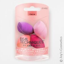 "1 REAL TECHNIQUES 4 Miracle Mini Complexion Sponges ""RT-1492""  *Joy's cosmetics*"