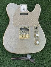 Pistols Crown Barncaster Tele BODY ONLY Guitar Handmade IN USA rare Gold Paisley