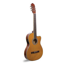Davis Classical Guitar TCS-320-EQ-SLIM brown color