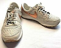 Nike Air Leather Gray Copper Running Athletic Shoes Sneakers Women's Size 8.5