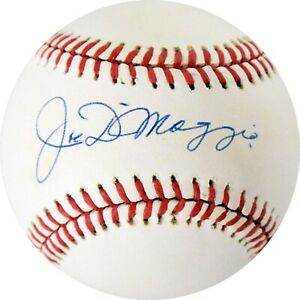 Joe DiMaggio Signed Rawlings Official American League Baseball JSA LOA AG817
