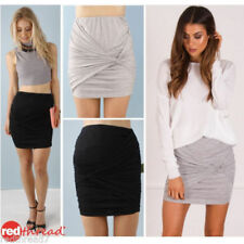 Regular Size Solid Above Knee Mini Skirts for Women