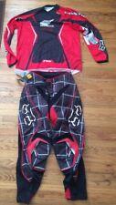 Fox Blitz Red/Black/White Motocross Pants Size 34 & Jersey Size L