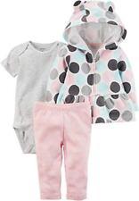 Carter's Fleece chaqueta pantalón body talla 62/68 Baby chaqueta 3 pzas. de transición chaqueta puntos