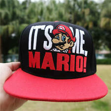 It's Time Mario Embroidery Baseball Cap Men Game Hip Hop Adjustable Hat Snapback