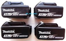 4 New GENUINE Makita Batteries BL1830B 3.0 AH 18 Volt For Drill, Saw,Grinder 18V