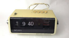 VINTAGE SONY  SOLID STATE DIGIMATIC AM FM FLIP RADIO ALARM CLOCK 8FC-100W