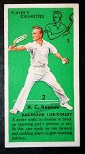 Tennis Technique  Hopman  Australia    Original Vintage Colour Card