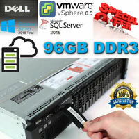 "Dell PowerEdge R720 Xeon E5-2680 2.70GHz 96GB DDR3 H710 Mini 4x 2.5"" CADDIES/SSD"