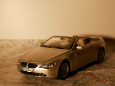 KYOSHO BMW 6-ER CABRIO ART. 80430153437  BWM - DEALER- VERSION + BOX  1:18  NEW