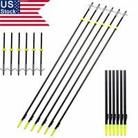 "US 6PCS 35""33""Archery Bow Fishing Arrow w/Broadheads Safety Slides OD6/8 Hunting"