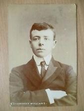 1906 Used Postcard- Actors E GRAWSHAY WILLIAMS + Stamp