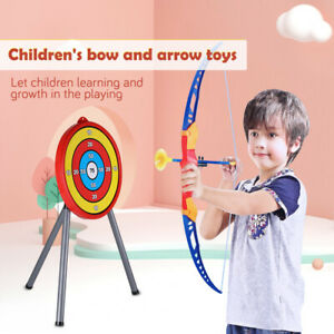 Kids Children Archery Bow and Arrow Set 3 Suction Cup Arrows Toy Target Board UK