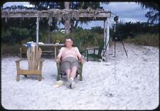 Fun Beach Bummin' Scenes SANIBEL ISLAND Florida FL 6 Vintage 1950s Slide Photos