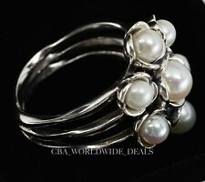NEW Authentic Pandora 925 Silver Wishful Thinking Pearl Ring Sizes 5.5 - 9