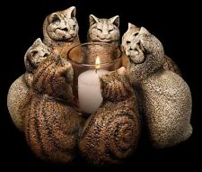 Circle of Cats Candle Lamp Cat Council Windstone Editions Centerpiece  #MH2009