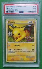 PSA 7 NM Pikachu Pokemon Day 2010 HG SS Special Event VERY RARE