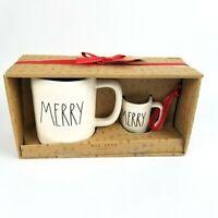 "New RAE DUNN Christmas LL ""MERRY"" Mug & Ornament Set With Gift Tag By Magenta"