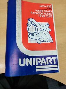 UNIPART WATER PUMPS PARTS LIST CATALOGUE MMM1123 1988