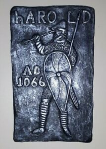 Bayeux Tapestry Inspired Wall Plaque. Battle of Hastings 1066.