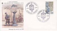 Enveloppe maximum 1er jour FDC 1978 Journée du timbre Relevage du courrier 1900