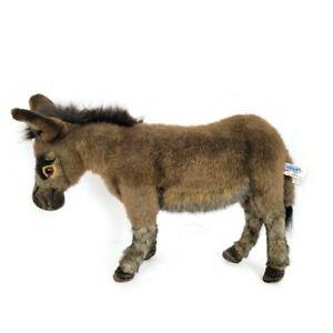 """Hansa Standing Donkey Stuffed Animal Plush 3805 Soft Toy Life-like 16"""" Hand Sewn"""