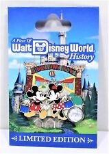 Disney Piece of History 2017 Downtown Disney Mickey & Minnie 3-D Pin LE 1500 NEW