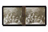 Famille Francia Foto Stereo Placca Da Lente Vintage 1918