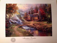 """Thomas Kinkade 11"""" x 14""""  Print """"Mountain Paradise"""", 25th Silver Anniversary"""