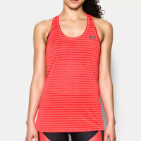 Under Armour UA Threadborne Train Striped Tank Ladies Sports Running Vest