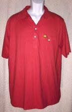 Red Vintage Jack Nicklaus Golden Bear Golf Polo Shirt Size Adult Xl